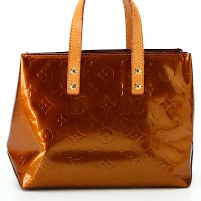 Louis Vuitton Reade PM Mini Tote in Bronze Monogram Vernis and Vachetta Leather
