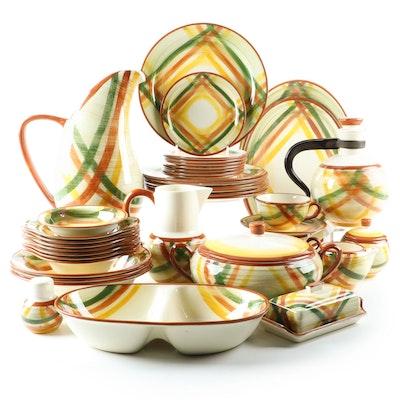 "Metlox-Vernonware ""Homespun"" Plaid Dinnerware, 1948–1958"