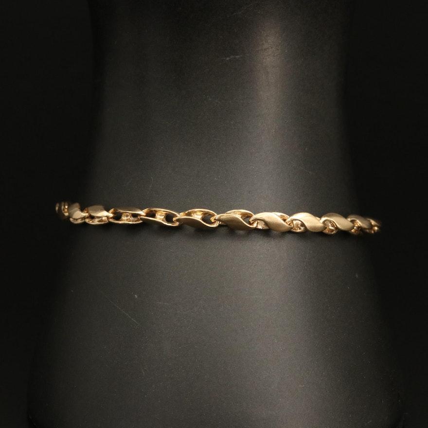 14K Infinity Link Bracelet