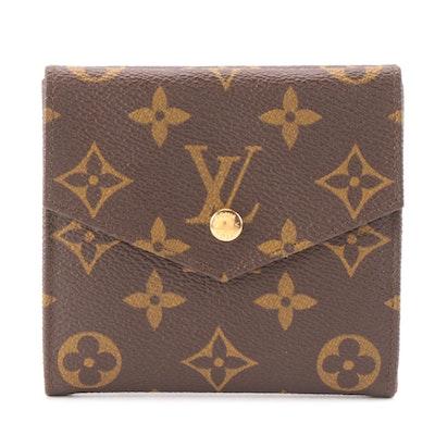Louis Vuitton Porte-Monnaie Wallet in Monogram Canvas