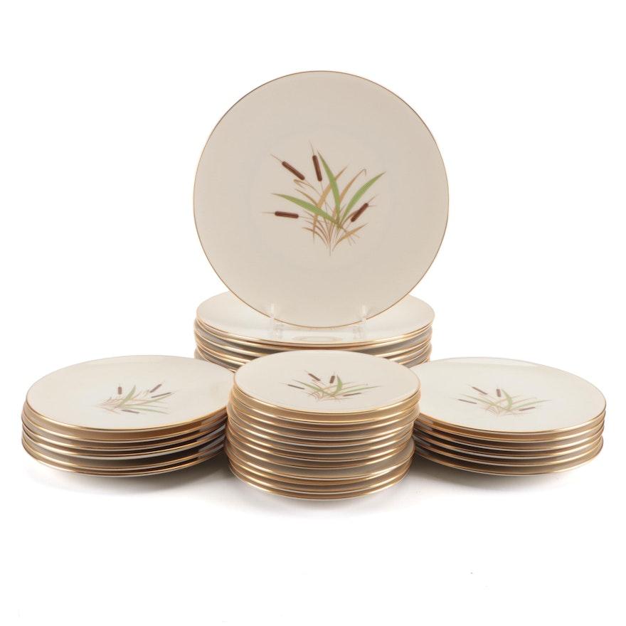"Lenox ""Cattail"" Porcelain Dinnerware, Mid-20th Century"
