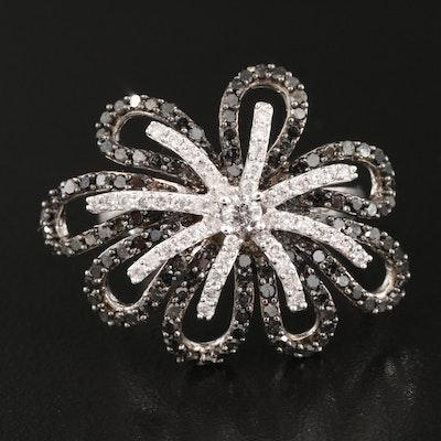14K 1.24 CTW Diamond Floral Ring