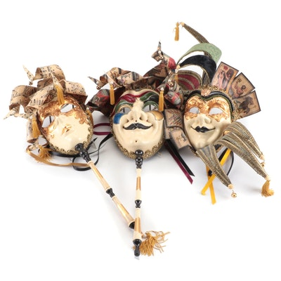 Venetian Style Jester and Other Masks