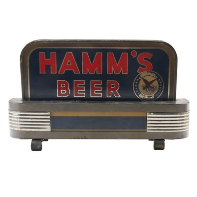 Hamm's Beer Art Deco Style  Illuminated Back Bar Sign, 1930s-1940s