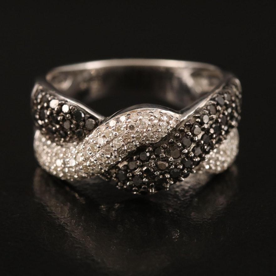 14K 1.00 CTW Diamond Braided Band