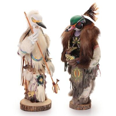 "Kevin Gadomski Sculptures ""Egret Manitou"" and ""Little Manitou Wood Duck"""