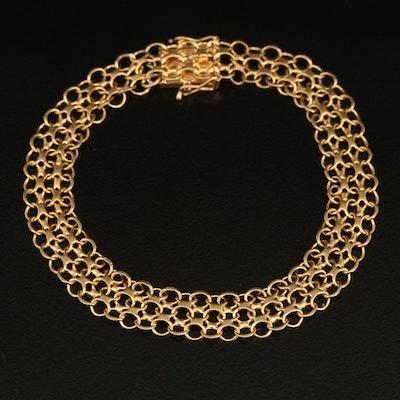 Swedish 18K Bismark Chain Bracelet
