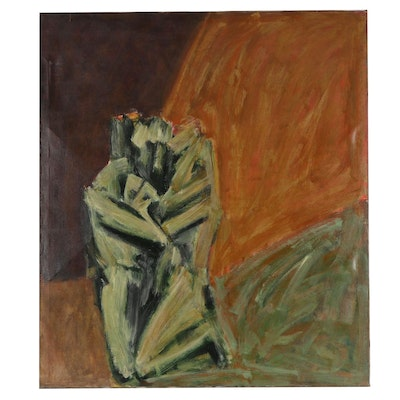 """Don Stacy Large-Scale Oil Painting """"In-Light,"""" Circa 1970"""