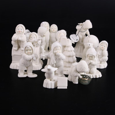 """Department 56 """"Snowbabies"""" and """"Winter Tales of the Snowbabies"""" Bisque Figurines"""