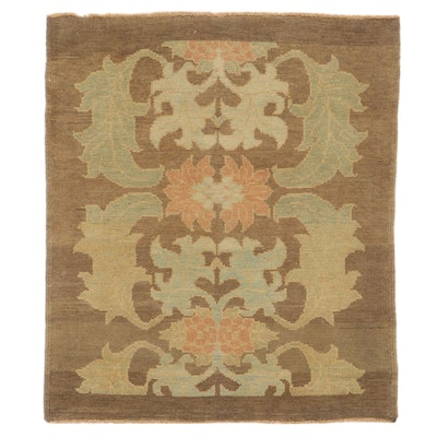 4'4 x 5'1 Hand-Knotted Turkish Donegal Area Rug