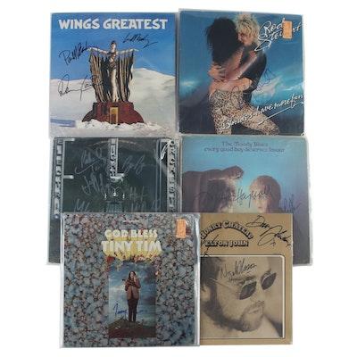 Wings, Elton John, Rod Stewart, Other Signed Vinyl Pop LP Records