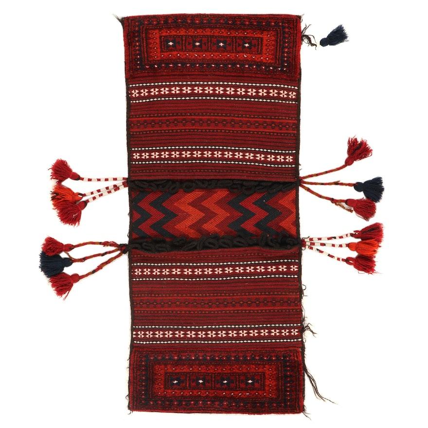 2' x 4'6 Handwoven Afghan Kilim Saddle Bag