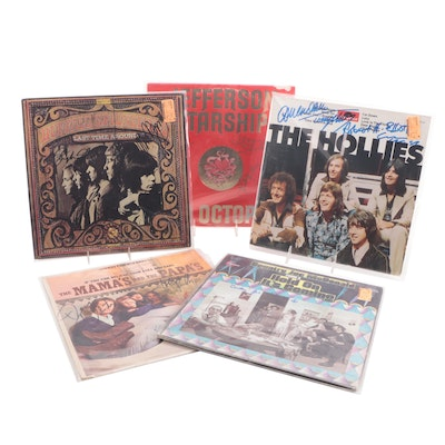 Buffalo Springfield, The Hollies, Mamas And Papas and Other Signed Records