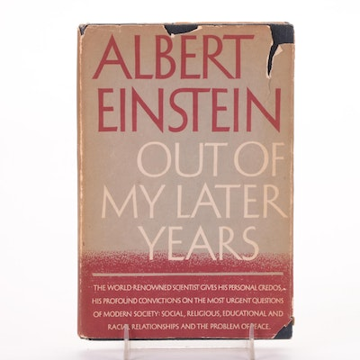 """First Edition """"Out of My Later Years"""" by Albert Einstein, 1950"""