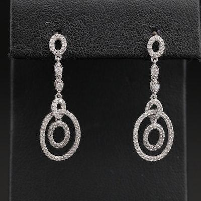 14K 0.65 CTW Diamond Drop Earrings