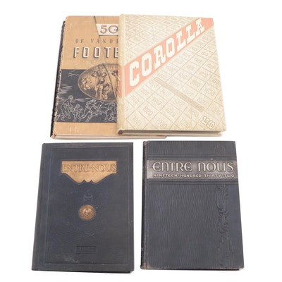 """Yearbook Collection Including """"Entre Nous,"""" Early to Mid-20th Century"""