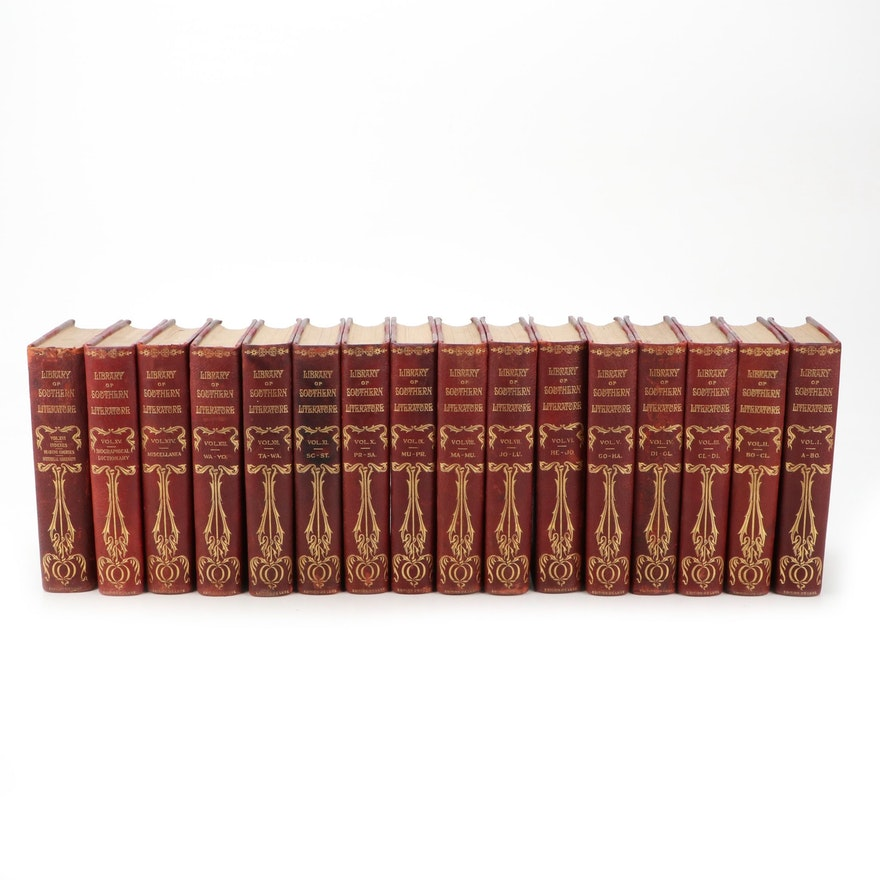 """""""Library of Southern Literature"""" Edition Deluxe Complete Set, Early 20th Century"""