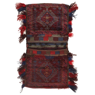 2'7 x 4'9 Hand-Knotted Pakistani Baluch Saddlebag
