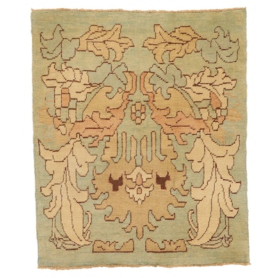 4'6 x 5'6 Hand-Knotted Turkish Donegal Area Rug