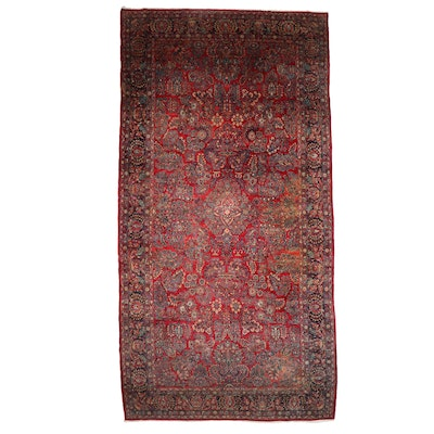 10'2 x 19'9 Hand-Knotted Persian Sarouk Room Sized Rug