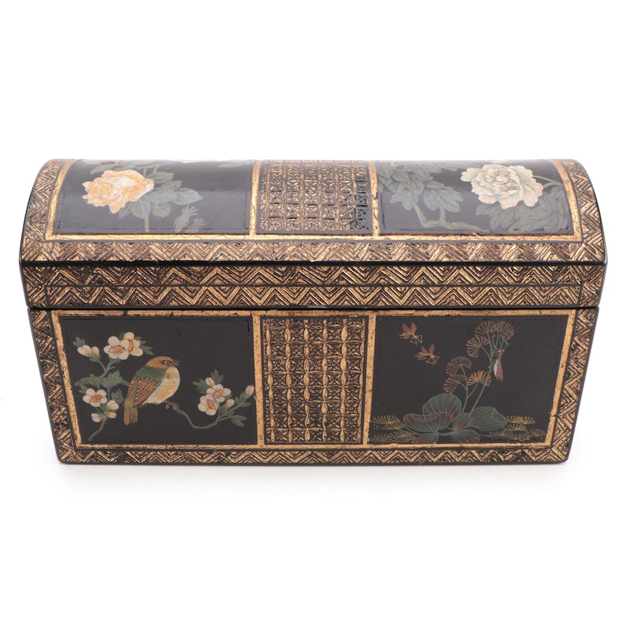 Wildwood Accents Chinese Hand-Painted Lacquerware Box