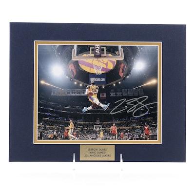 LeBron James Signed Los Angeles Lakers NBA Basketball Photo Print, COA