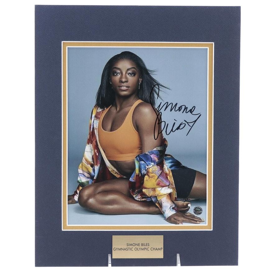 Simone Biles Signed American Gymnastic Olympic Champ Photo Print, COA