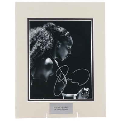 "Serena Williams Signed ""Momma Smash"" American Tennis Legend Photo Print"