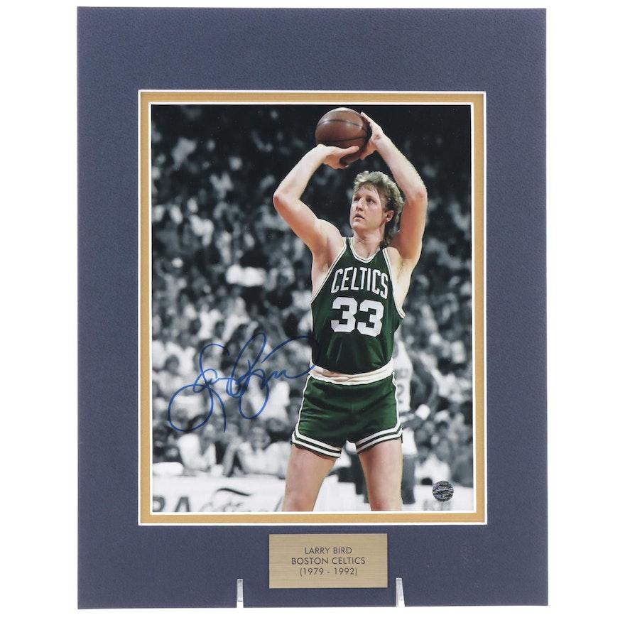 Larry Bird Signed Boston Celtics NBA Basketball Photo Print, COA
