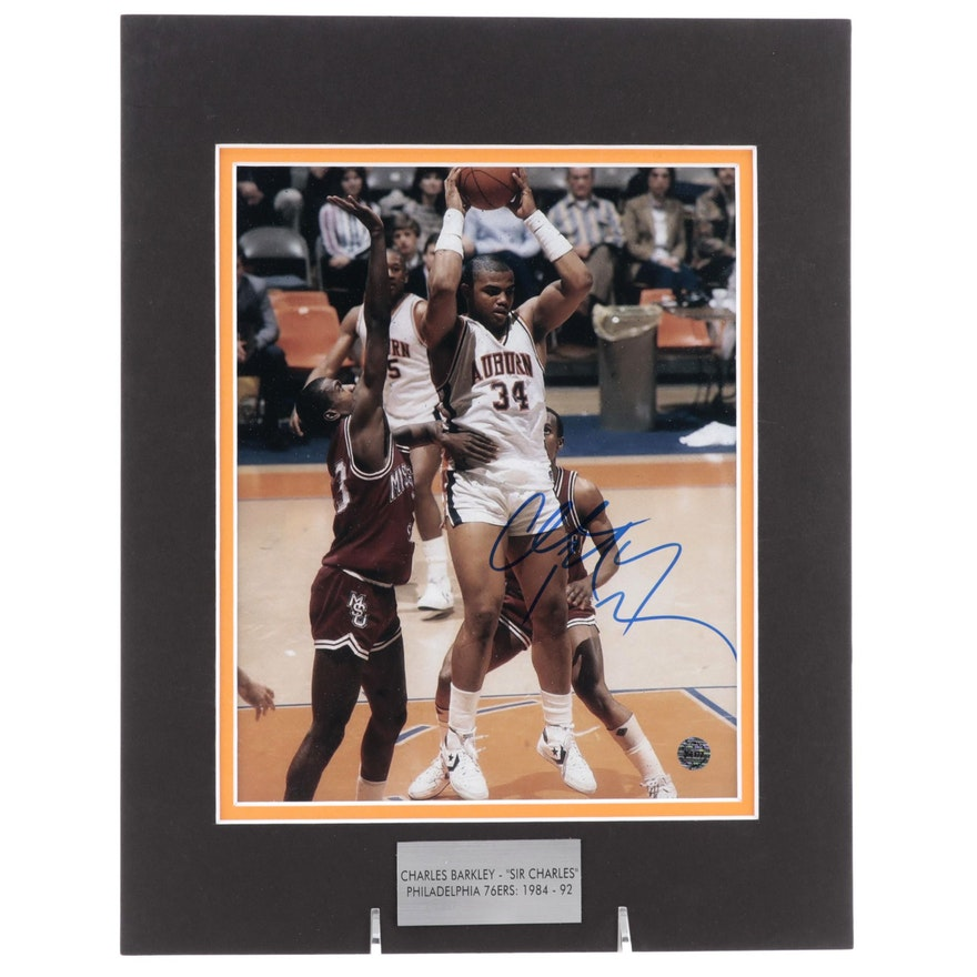 """Charles Barkley Signed """"Sir Charles"""" Philadelphia 76ers NBA Basketball Print"""