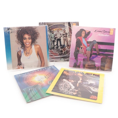 Whitney Houston, Donna Summer, The Four Tops and Other Signed Records