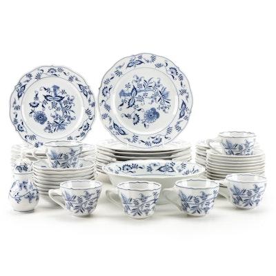Blue Danube Porcelain Dinner and Serveware, Late 20th Century