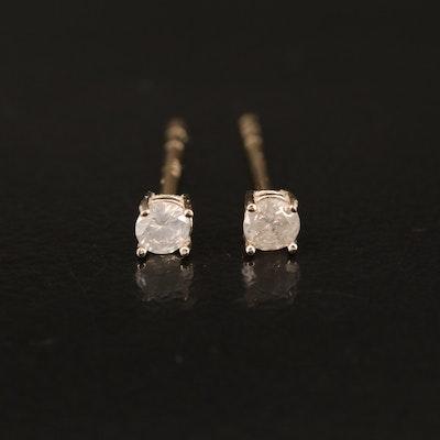 14K 0.15 CTW Diamond Stud Earrings