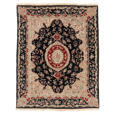 7'9 x 10' Hand-Knotted Sino-French Style Area Rug