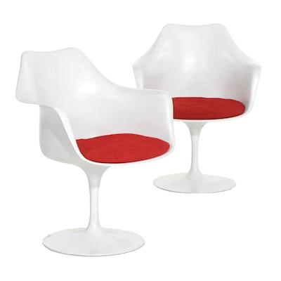 """Pair of Eero Saarinen for Knoll """"Tulip"""" Fiberglass Armchairs, 1960s"""