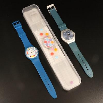 3 Swatch Quartz Wristwatches