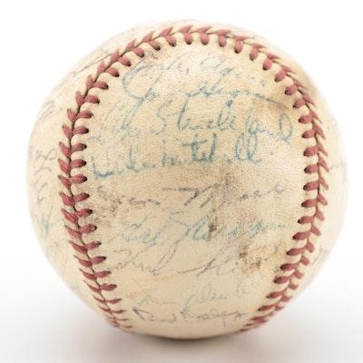 1955 Cleveland Indians Signed American League Baseball, COA