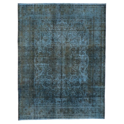 9'6 x 12'6 Hand-Knotted Persian Overdyed Room Sized Rug