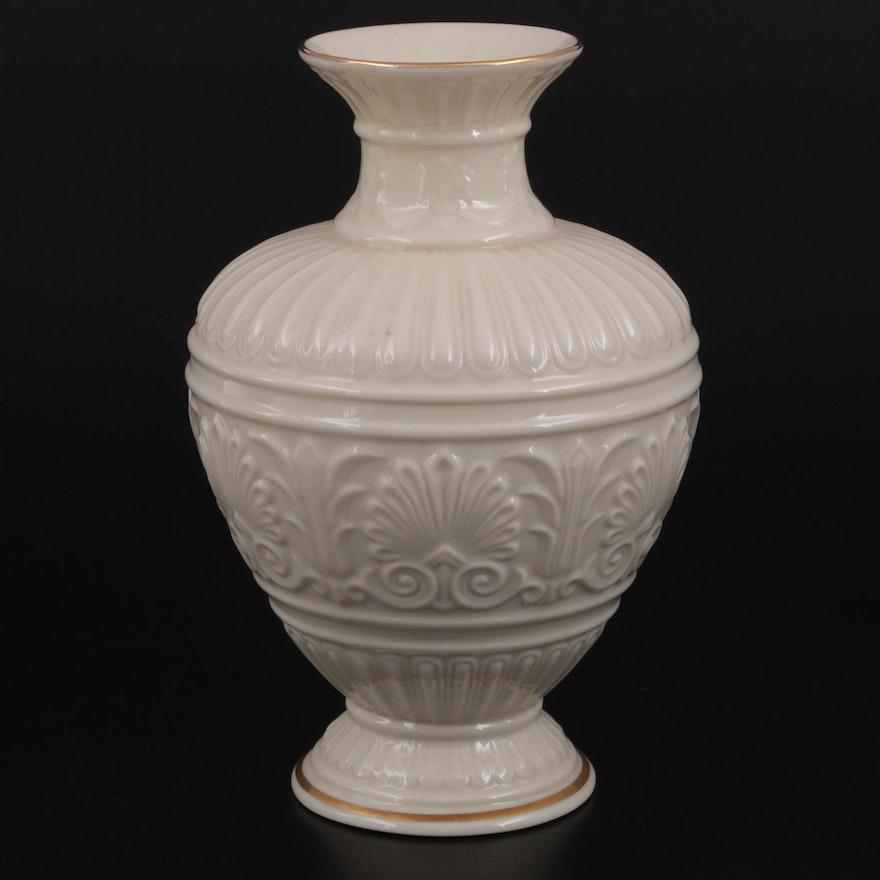 "Lenox ""Athenian Collection"" Gilt Rimmed Bone China Vase"