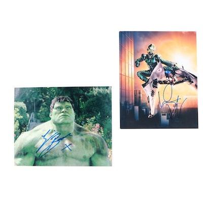 "Willem Dafoe ""Green Goblin"" and Eric Bana ""Hulk"" Signed Movie Photo Prints"