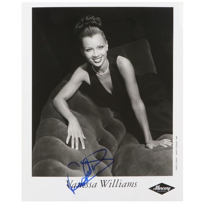 Vanessa Williams Signed Mercury Records Publicity Photo Print, 1996