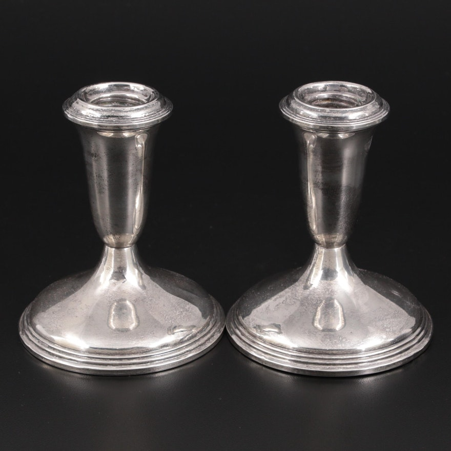Empire Sterling Silver Console Candle Holders