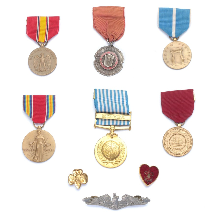 U.S. Military and Sporting Medals
