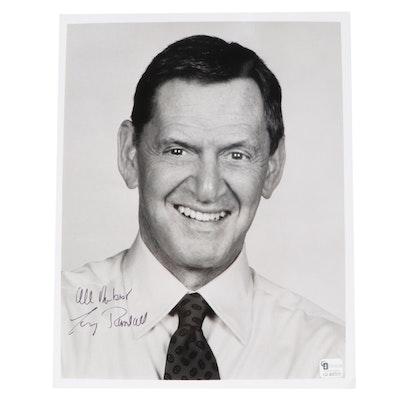 "Tony Randall Signed ""All My Best"" Television Publicity Photo Print, COA"
