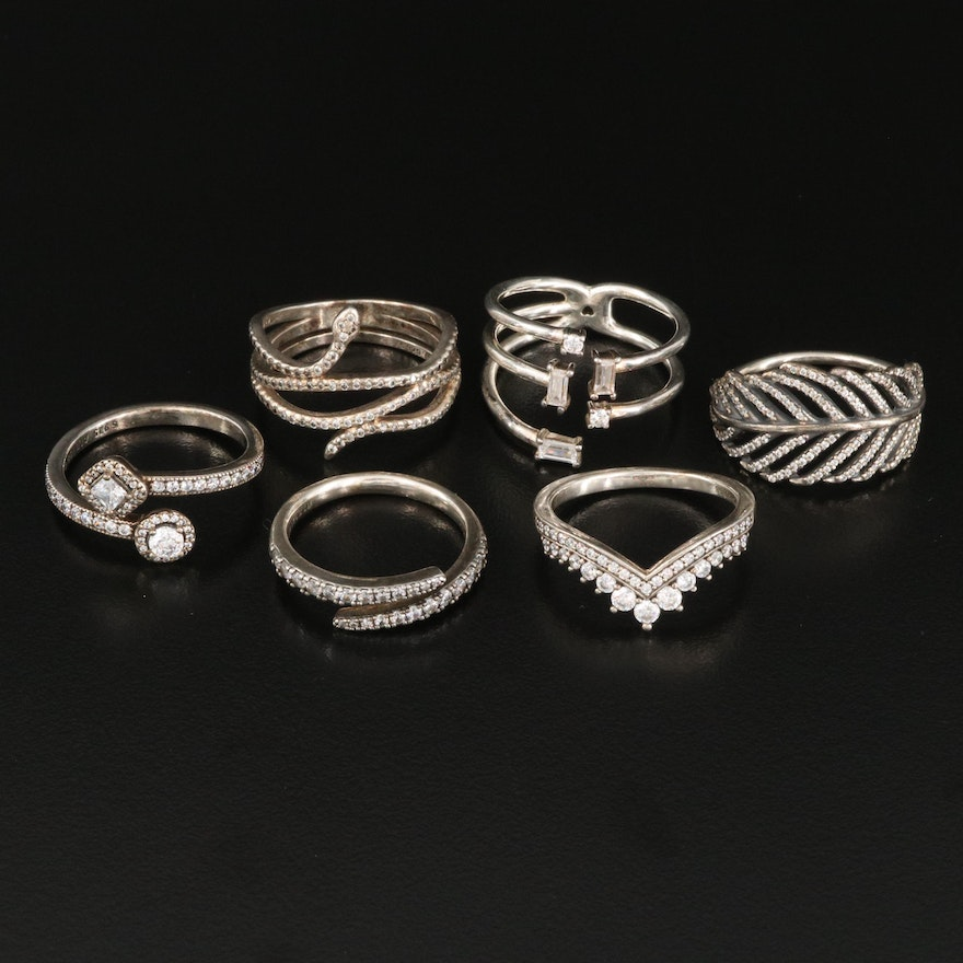 Pandora Sterling Silver and Cubic Zirconia Rings
