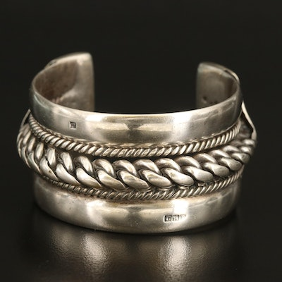 Vintage Egyptian 800 Silver Cuff