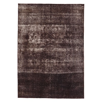 8'8 x 12'7 Hand-Knotted Persian Overdyed Room Sized Rug