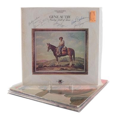 John Wayne, Elvis Presley, Gene Autry, Other Signed Vinyl LP Record Albums