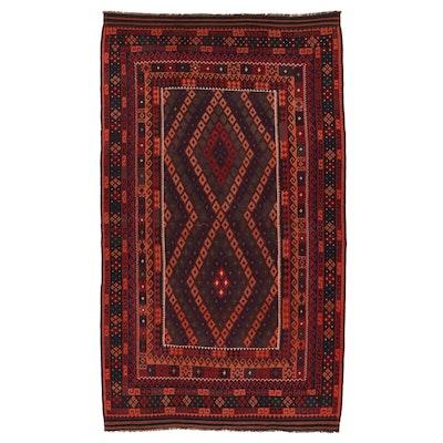 9'8 x 17'4 Handwoven Afghan Kilim Room Sized Rug