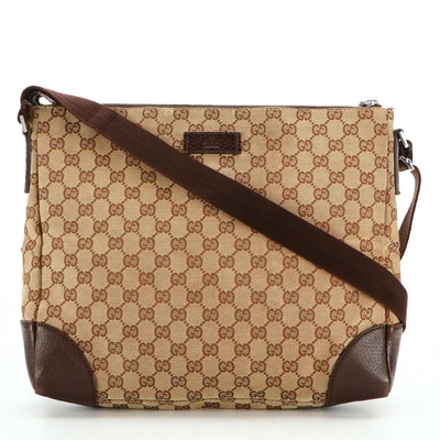 Gucci GG Canvas and Leather Messenger Bag